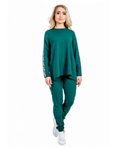 Костюмный зеленый спортивный костюм Milalux