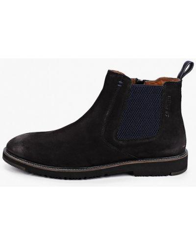Черные ботинки челси из нубука Salamander