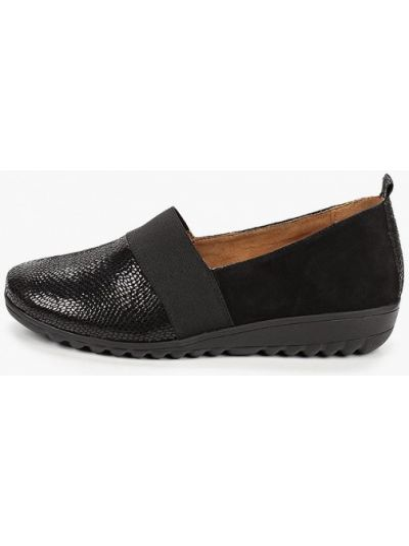 Черные кожаные туфли закрытые из натуральной кожи Caprice