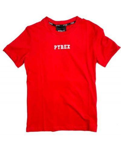Czerwona t-shirt Pyrex
