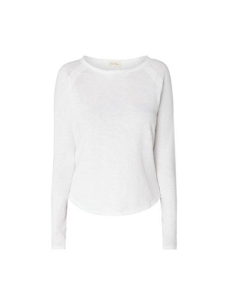 Biała bluzka bawełniana z raglanowymi rękawami American Vintage