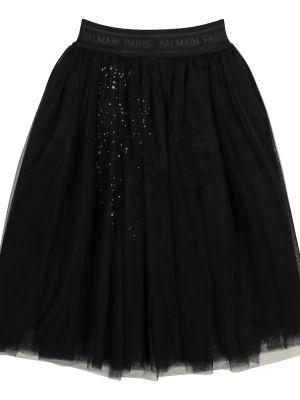 Czarna spódnica tutu tiulowa Balmain Kids