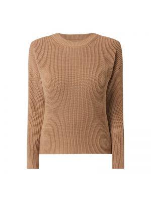 Prążkowany brązowy sweter bawełniany Moves