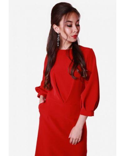 Красное платье весеннее Sfn