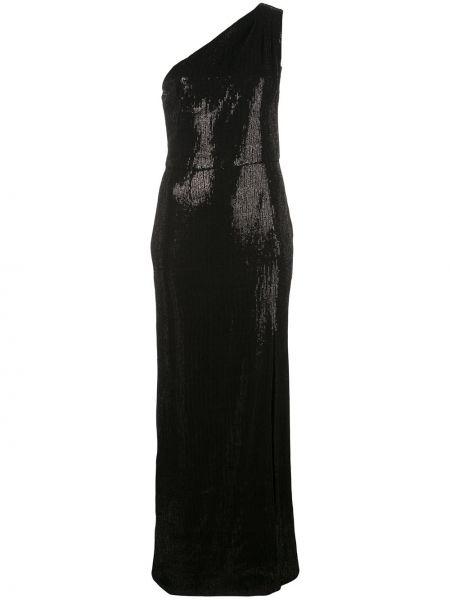 Нейлоновое вечернее платье с пайетками с длинными рукавами с вырезом Haney