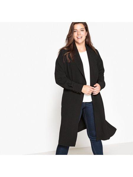 Черное пальто с воротником Castaluna