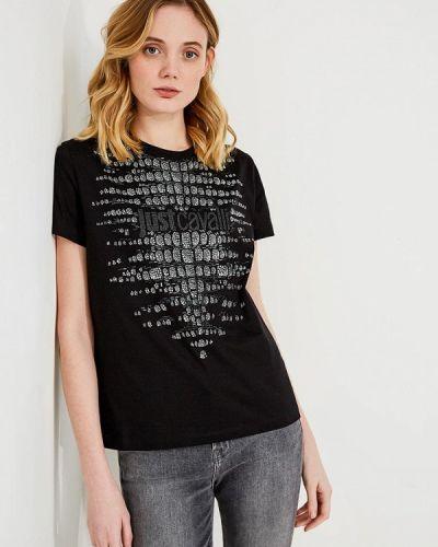 Черная футболка Just Cavalli