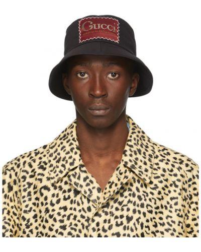 Bawełna bawełna biały kapelusz prążkowany Gucci
