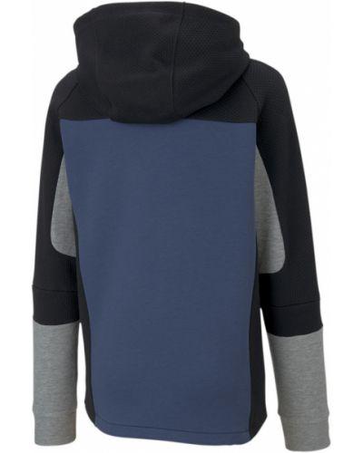 Ватная синяя джинсовая куртка с капюшоном Puma