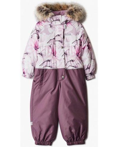 Теплый розовый комбинезон Kerry