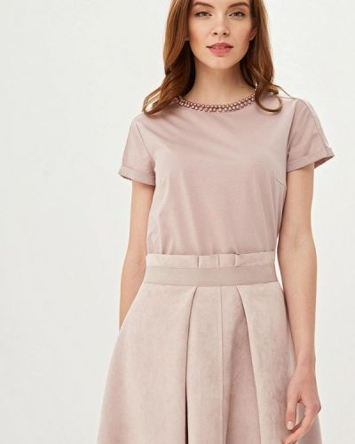 Блузка с коротким рукавом розовая Lusio