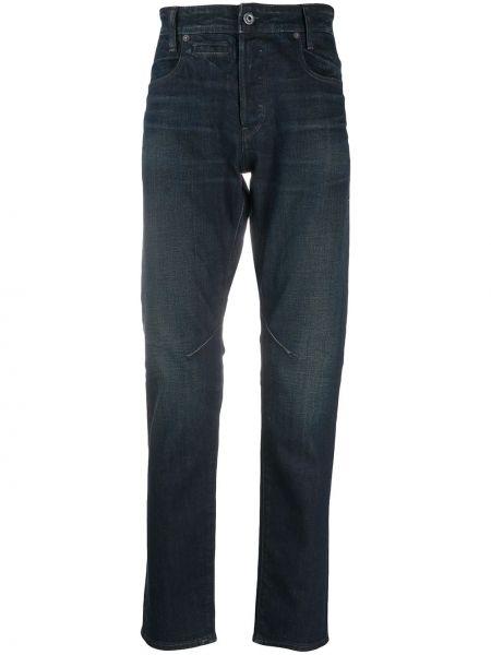 Хлопковые синие джинсы-скинни с бабочкой G-star Raw