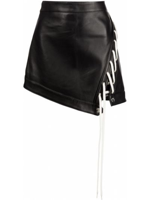 Кожаная юбка - черная Monse