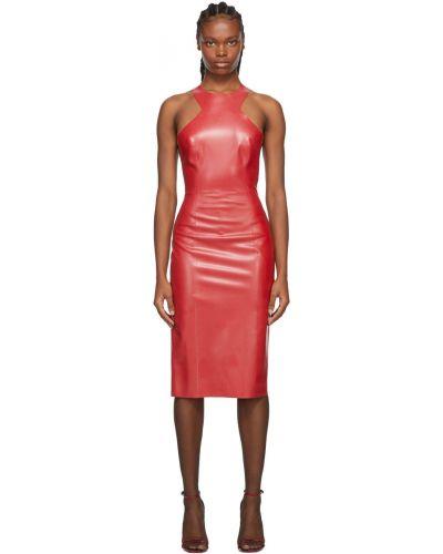 Платье латексное Saint Laurent