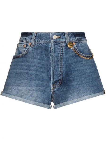 Синие хлопковые джинсовые шорты Givenchy