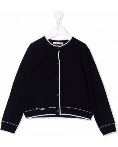 Biały sweter z haftem Marni Kids