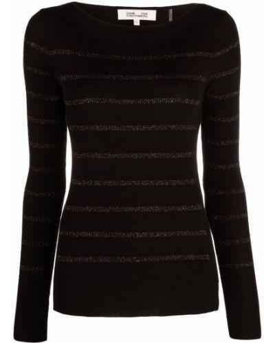 Черный шерстяной джемпер Dvf Diane Von Furstenberg