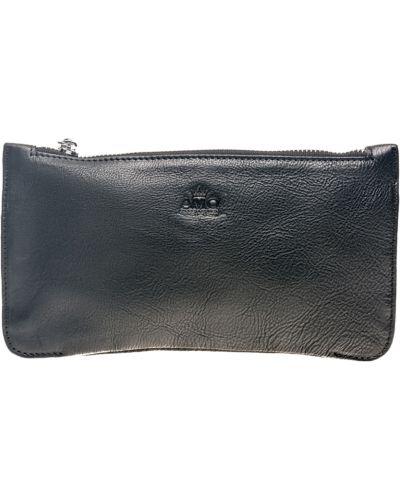 Кожаный клатч - черный Amo Accessori