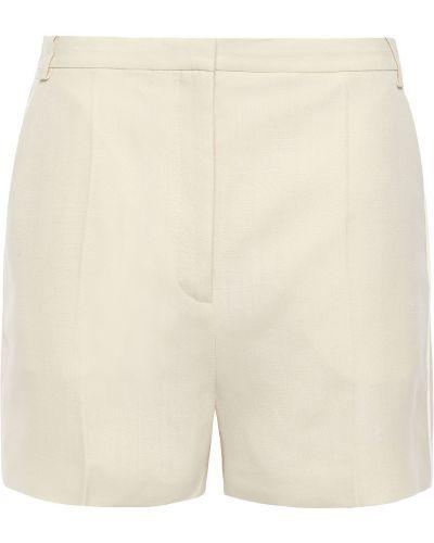 Бежевые льняные шорты с поясом Victoria Victoria Beckham