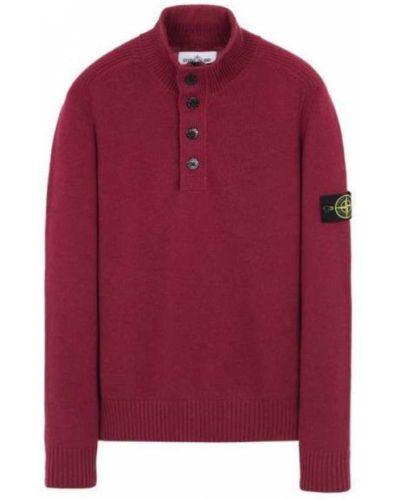 Sweter z kołnierzem z mankietami z zamkiem błyskawicznym Stone Island