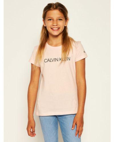 Różowy koszula jeansowa Calvin Klein Jeans