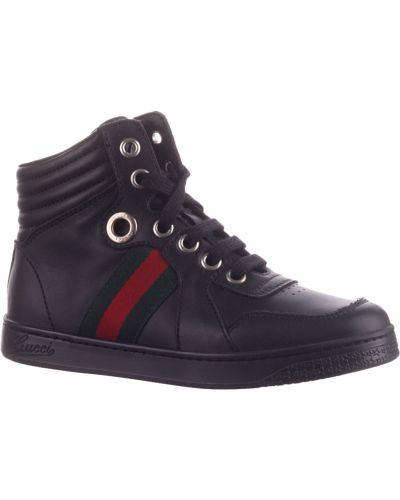 Кроссовки черные Gucci