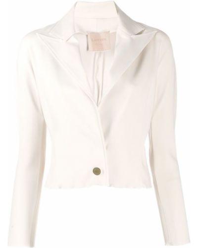 Розовый удлиненный пиджак на пуговицах винтажный Lanvin Pre-owned