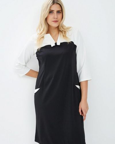 Повседневное платье осеннее черное Darissa Fashion