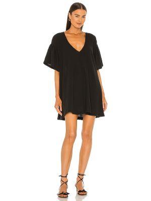 Открытое черное платье мини с открытой спиной L'academie