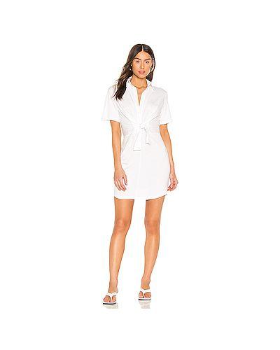 Хлопковое белое платье Monrow