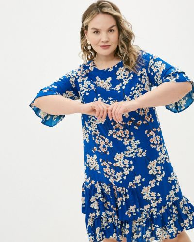 Повседневное синее платье Allegri
