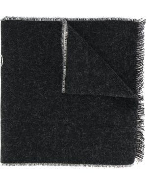Czarny szalik wełniany z printem Etudes