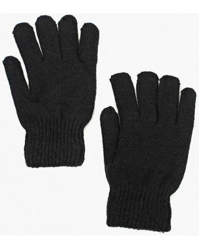 Черные перчатки текстильные Modis