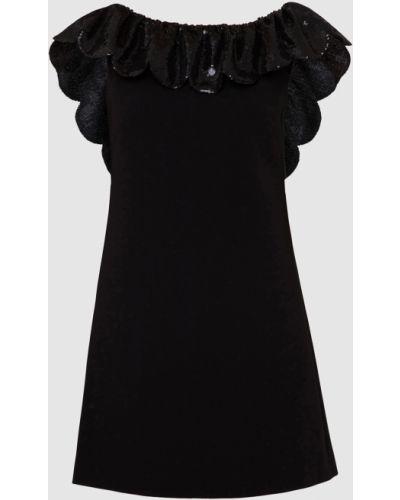 Черное платье мини Miu Miu
