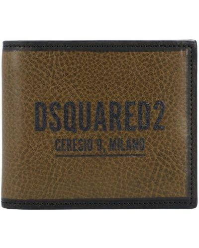 Zielony portfel Dsquared2