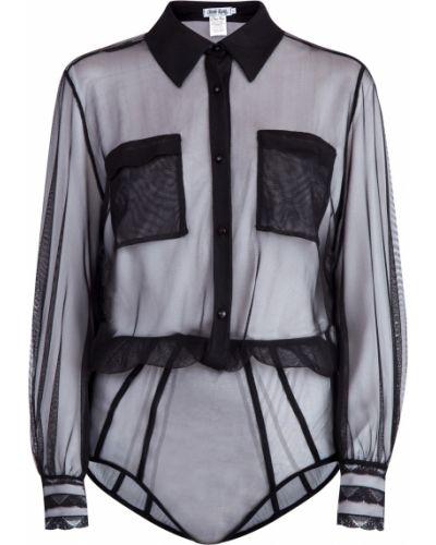 Блузка с длинным рукавом с воротником-стойкой с поясом Charo Ruiz Ibiza