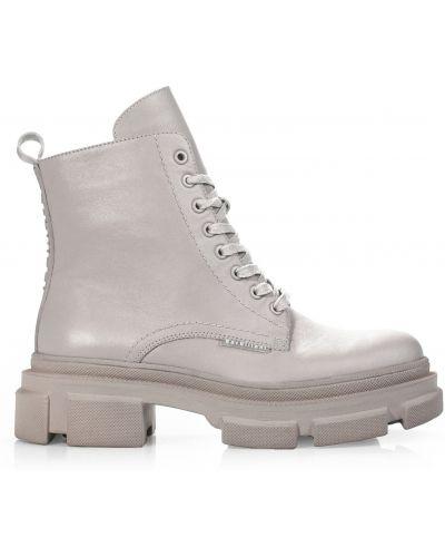 Кожаные ботинки - бежевые Barbilioni