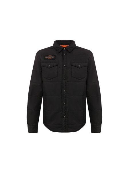 Нейлоновая облегченная черная куртка Harley Davidson