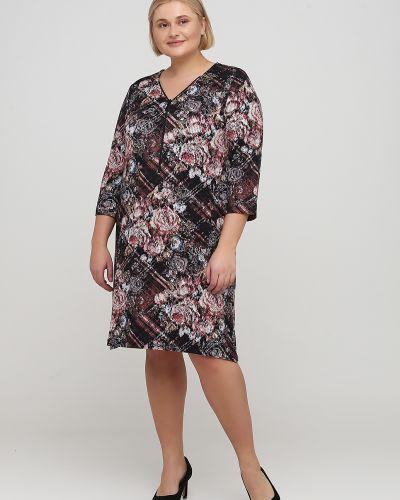 Свободное черное платье свободного кроя No Brand