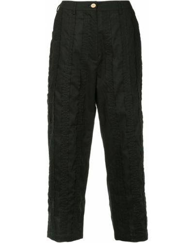 Черные укороченные брюки с поясом Aleksandr Manamïs