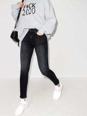 Облегающие зауженные джинсы - черные R13