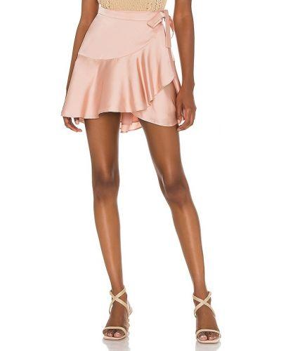 Розовая сатиновая юбка с подкладкой Lovers + Friends