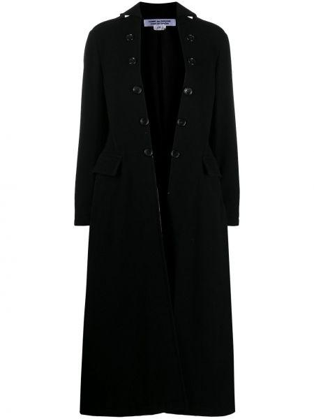 Шерстяное черное пальто классическое оверсайз Comme Des Garçons Comme Des Garçons