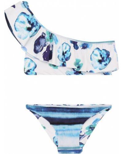 Купальник раздельный в цветочный принт с заниженной талией La Perla