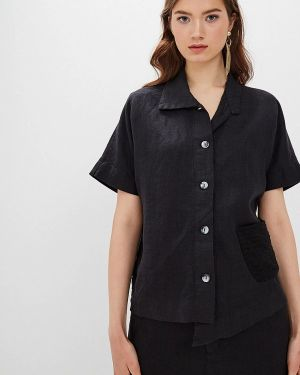 Блузка с коротким рукавом весенний черная Agenda