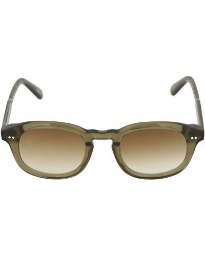 Зеленые солнцезащитные очки круглые Chimi