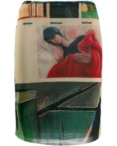 Плиссированная коричневая юбка мини Ottolinger
