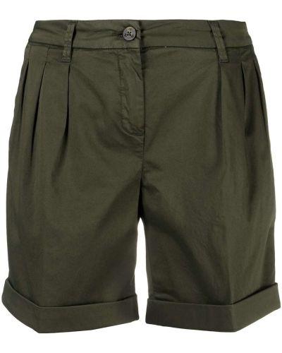 Зеленые хлопковые шорты со складками Fay