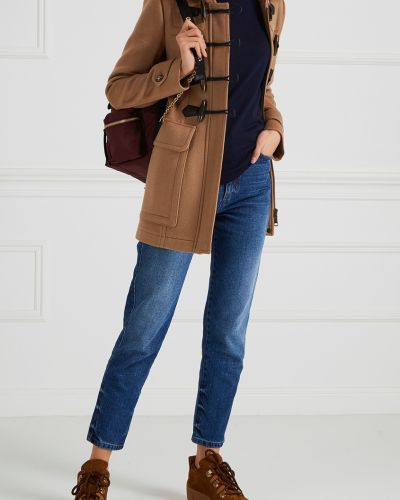 Пальто с капюшоном на верблюжьей шерсти классическое Burberry