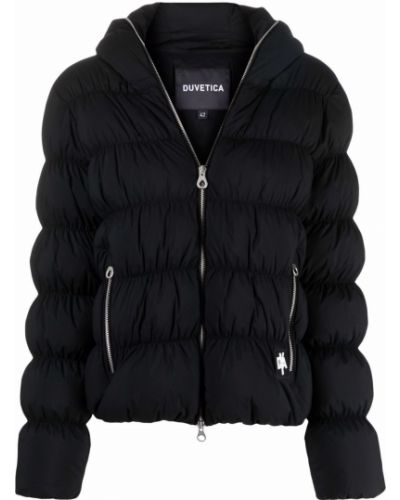 Черная куртка длинная Duvetica